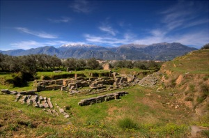 Ancient Sparta Theatre ruins Photo by Κούμαρης Νικόλαος Wikipedia