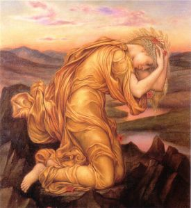 Demeter mourning Persepone by Evelyn de Morgan, 1906