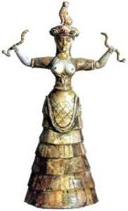 Minoan Snake Goddess Heraklion Museum