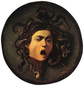 Medusa by Caravaggio 1595-1596