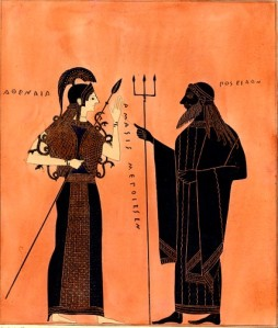 Athena and Poseidon circa 540 BC Amphora