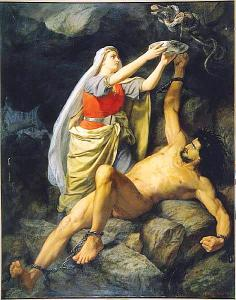 Loki and Sigyn Marten Eskil Winge 1890