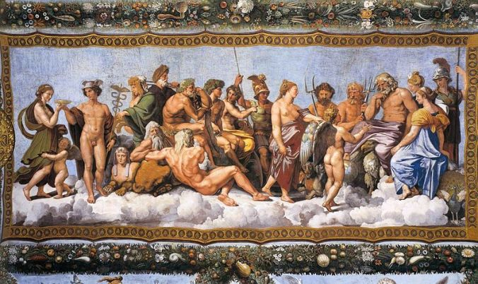 The Council of Gods Raphael (1517-18) Courtesy of Wikipedia