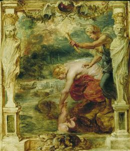 Thetis dipping the infant Achilles into the river Styx Peter Paul Rubens Date between 1630 and 1635 Wikipedia