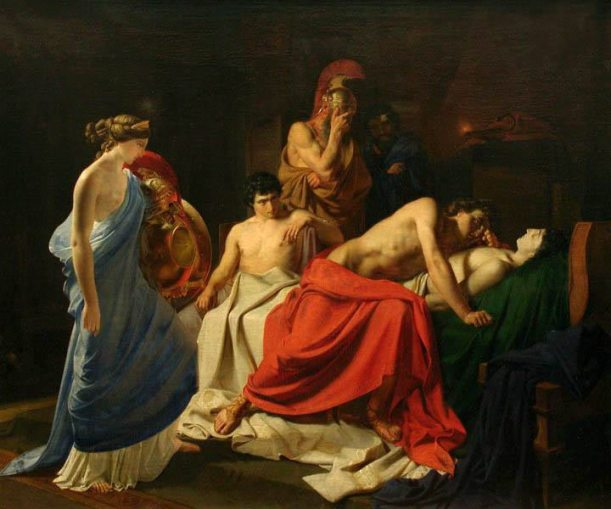 Achilles and the body of Patroclus Nikolai Ge 1855 Wikipedia