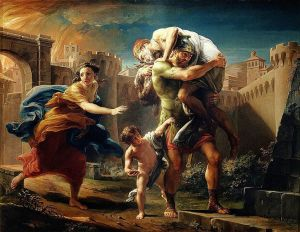 Aeneas fleeing from Troy Pompeo Batoni, 1753 Sabauda Gallery, Turin Wikipedia