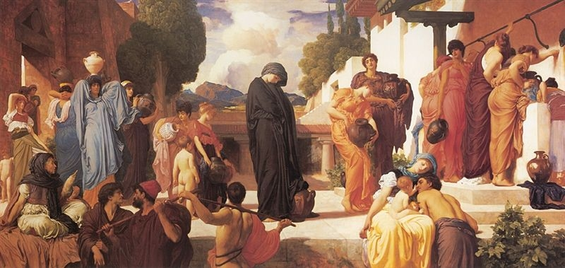 Captive Andromache Fredric Leighton (1886-8) Manchester City Art Gallery Wikipedia