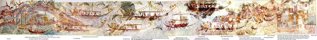 Akrotiri marine fresco Athens Museum