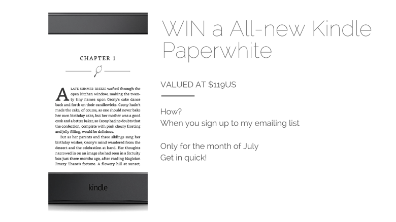 WIN a All-new Kindle Paperwhite