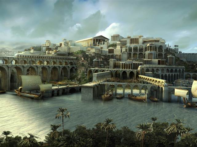 An artist's conception shows the city of Atlantis as it has been envisioned in legend. National Geographic http://www.nbcnews.com/id/42072469/ns/technology_and_science-science/t/lost-city-atlantis-believed-found-spain/#.VTcNeNKqpBc