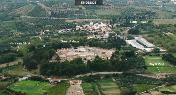 Aerial view of Knossos Wikipedia