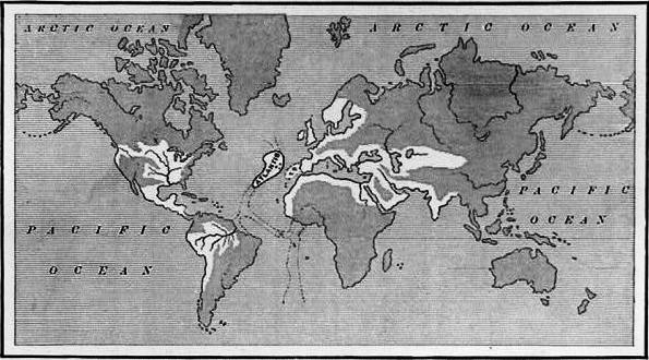 A map showing the supposed extent of the Atlantean Empire. From Ignatius L. Donnelly's Atlantis: the Antediluvian World, 1882. cropped by Beyond My Ken (talk) This image is available from the United States Library of Congress's Prints and Photographs division under the digital ID cph.3b36915. Licensed under Public Domain via Wikimedia Commons - https://commons.wikimedia.org/wiki/File:Atlantis_map_1882_crop.jpg#/media/File:Atlantis_map_1882_crop.jpg