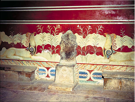Colours used in the Throne Room at Knossos