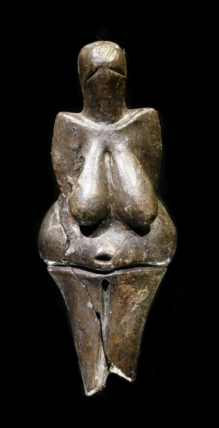 "The Venus of Dolní Věstonice, one of the earliest known depictions of the human body, dates to approximately 29,000–25,000 BC (Gravettian culture of the Upper Paleolithic era) ""Vestonicka venuse edit"" by che (Credits ""Petr Novák, Wikipedia"" Licensed under CC BY-SA 2.5 via Commons - https://commons.wikimedia.org/wiki/File:Vestonicka_venuse_edit.jpg#/media/File:Vestonicka_venuse_edit.jpg"