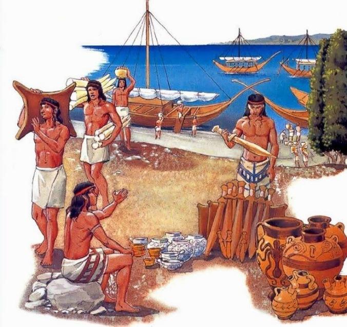 Minoans trading, The Stream of Time, http://antiquatedantiquarian.blogspot.com.au/2015/04/the-minoans-international-trade.html