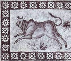 Phoenician mosaic of a zebu-type animal Image courtesy of Bible-Archaeology.info