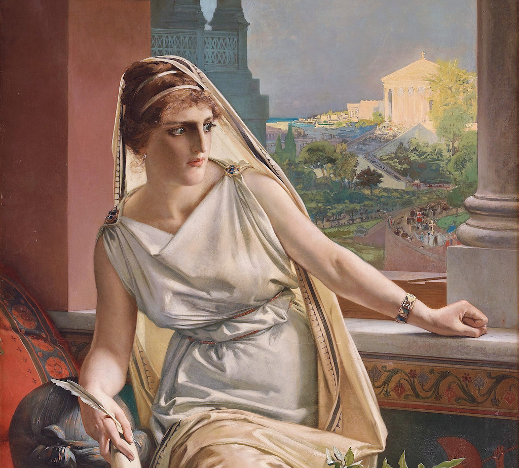 Hypatia_by_Julius_Kronberg_1889